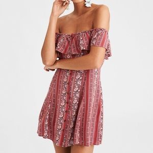 American Eagle Outfitters off the shoulder dress S
